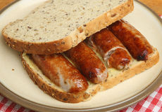 Sausage Sandwich Royalty Free Stock Image
