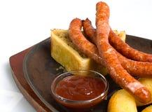 Sausage & Sauerkraut Stock Images