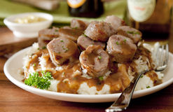 Sausage and Sauerkraut Stock Images