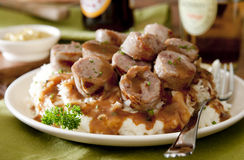 Sausage and Sauerkraut Royalty Free Stock Image