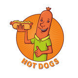 Sausage sells hot dogs Royalty Free Stock Photos