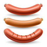 Sausage set. Grilled and raw Stock Photography