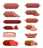 Sausage set Stock Images