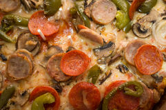 Sausage Sicilian pizza Stock Photo