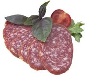 Sausage slice Royalty Free Stock Images