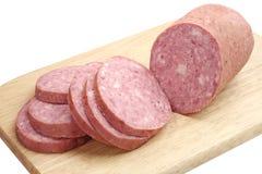 Sausage sliced Stock Image