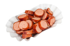Sausage slices Stock Photography