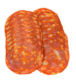 Sausage slices Stock Photo