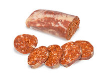Sausage slised  Royalty Free Stock Photography
