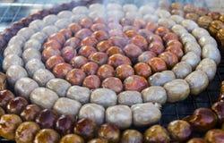 Sausage small circles Royalty Free Stock Photo