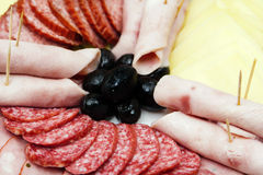 Sausage snack Royalty Free Stock Images