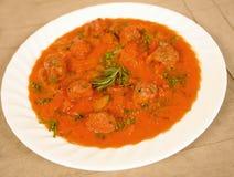 Sausage soup Stock Image