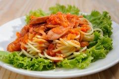 Free Sausage Spaghetti Stock Images - 27194944