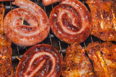 Sausage and spareribs Royalty Free Stock Photo