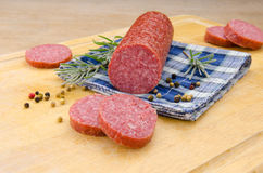 Sausage with spices Stock Photos