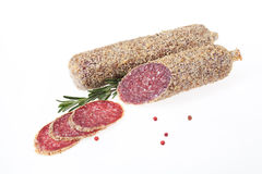 Sausage With Spices Royalty Free Stock Photos