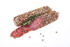Sausage With Spices Stock Photo
