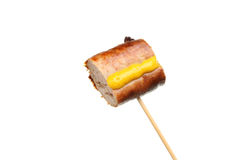 Sausage on a stick Royalty Free Stock Photos