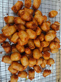 Sausage stuffed fried vermicelli Stock Image