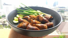 Sausage - Thai Food - Northern Food. Thai food in spices is a popular dish of Thai people in northern Thailand Stock Photography