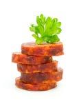 Sausage tower Stock Photo