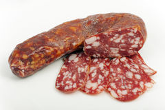 Sausage type salami Stock Photo