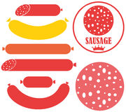 Sausage. Vector illustration (EPS 10 Royalty Free Stock Image