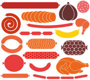 Sausage. Vector illustration (EPS 10 Royalty Free Stock Images