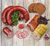 Sausage And Vegetables Royalty Free Stock Photo