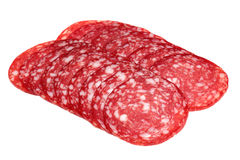 Sausage on a white background Royalty Free Stock Photos
