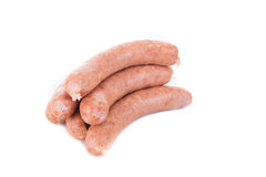 Sausage on white background Royalty Free Stock Photos