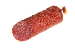 Sausage on a white background Royalty Free Stock Photo