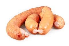 Sausage on a white background Stock Photos