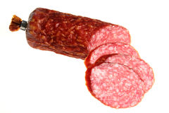Sausage  on a white background Stock Photography