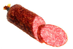 Sausage on a white background Stock Image