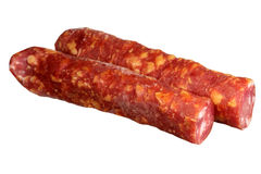 Sausage on a white background Stock Images