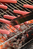 Sausages on Barbecue Stock Images