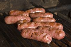 Sausages barbecue Royalty Free Stock Photography