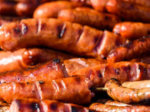 Sausages Barbecue Grill Royalty Free Stock Images