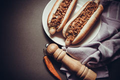 Sausages for baseball Royalty Free Stock Photography