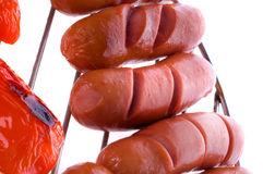 Sausages on BBQ Royalty Free Stock Photography