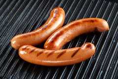 Sausages bbq on grill Stock Images