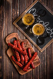 Sausages with beer Royalty Free Stock Photography