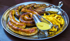 Sausages for beer Stock Image