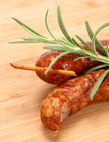 Sausages in close up Stock Images