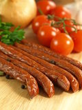 Sausages, close up Stock Photo