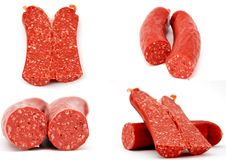 Sausages collage Royalty Free Stock Images