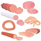 Sausages collection Stock Photos