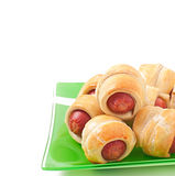 Sausages in dough Royalty Free Stock Photography