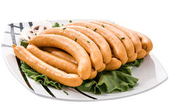 Sausages fresh Royalty Free Stock Photos